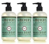 3-Pack 12.5-Oz Mrs. Meyer's Clean Day Liquid Hand Soap (Basil or Lemon Verbena)