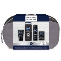 4-Piece Nivea Men Clean Deep Skin Care Gift Set