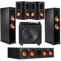 Klipsch: 2x RP-800F Floors + RP-404C Center + 2x R-502S Surround + HT/1205 Sub