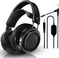 Philips Fidelio X2HR Over-Ear Wired Headphones + NeeGo Attachable Microphone