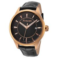 Montegrappa Men's Watches: Gold Black Dial