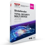 Bitdefender Total Security Multi Device 2018 5 PC and 1 Year 75% OFF – 28$