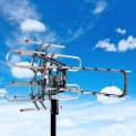 150 Miles Outdoor 1080P Amplified TV Antenna HD TV 36dB Rotor 360°UHF/VHF HDTV