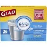 156-Count 4-Gallon Glad OdorShield Small Trash Bags w/ Febreze