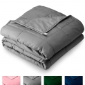 17-Lb Bare Home 60″ x 80″ Weighted Cotton Blanket (Grey) $39.40 + Free Shipping