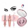 Magnetic Eyelashes with Magnetic Eyeliner Eye Makeup Lashes Kit Natural Look Magnetic Eyelashes Set (Pink)