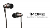 1MORE Quad Driver in-Ear Earphones Hi-Res High Fidelity Headphones with Warm Bass, Spacious Reproduction, High Resolution, Mic and in-Line Remote for Smartphones/PC/Tablet – Silver/Gray