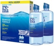 2-Pack of 12oz Bausch + Lomb ReNu Contact Lens Solution