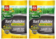 2-Pack Scotts Turf Builder Weed & Feed (15,000 sq. ft.)