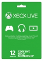 Xbox Live 12 Months Gold Membership Card Global