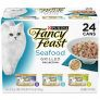 24-Ct 3oz Purina Fancy Feast Wet Canned Cat Food (Seafood Grilled Collection)