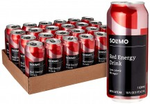 24-Pack Amazon Brand Solimo Red Energy Drink, 16 Fluid Ounce for $22.05