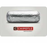 $25 Uber Gift Card or $25 Chipotle Gift Card $20