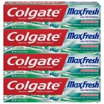 4-Pack 6oz Colgate Max Fresh Whitening Toothpaste (Clean Mint)