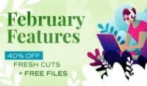 February features and freebies for Envato market