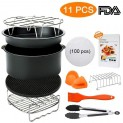 8 inch Air Fryer Accessories, Blusmart 11 pcs Deep Fryer