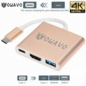 OWAVO USB-C-to-HDMI, LoHi 3-in-1 Digital Multiport Adapter, USB-C Quick Charging + HDMI Supports 4K 30HZ + USB 3.1 Port HDMI Converter MacBook/ChromeBook Pixel/USB-C Devices @Amazon