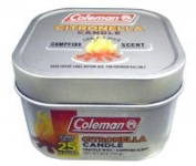 6oz Coleman Scented Citronella Candle w/ Wooden Crackle Wick (Campfire)
