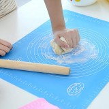 Silicone Baking Mat Pastry Mat with Measurements, Liner Heat Resistance Table Placemat Pad Pastry Board, Reusable Non-Stick Silicone Rolling Mat for Housewife, Cooking Enthusiasts
