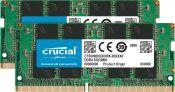 32GB (2x16GB) Crucial DDR4 2666 SODIMM Laptop Memory