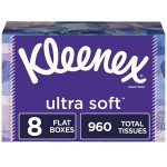 8-Pack 120-Count Kleenex Ultra Soft Facial Tissues