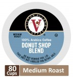 80-Ct Victor Allen's Coffee K-Cup Pods (Donut Shop Blend, Medium Roast)