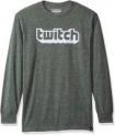 Twitch Flocked Long Sleeve Logo Shirt (various sizes) $5 via Amazon