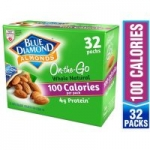 32-Count Blue Diamond Whole Natural Raw Almond 100 Calorie Packs