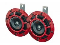 HELLA Loud Super Tone B133 Electric Horn Kit (Red/Black)
