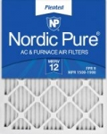 6-Pack Nordic Pure 20x25x1 MERV 12 Pleated AC Furnace Air Filters