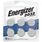 6-Count Energizer CR2032 3V Lithium Coin Batteries