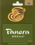 $50 Happy Eats Gift Card $40, $50 Panera Bread Gift Card