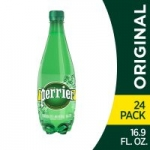 24-Pack 16.9oz Perrier Carbonated Mineral Water (Original)
