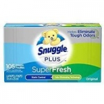 105-Count Snuggle Plus Super Fresh Fabric Softener Dryer Sheets