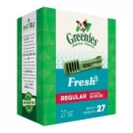 27oz Greenies Fresh Natural Dental Dog Treats (Teenie, Petite, Regular or Large)