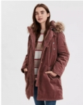 Women's American Eagle Corduroy Parka Faux, Sherpa Plaid Coat