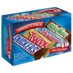 18-Count Snickers, Twix, 3 Musketeers & Milky Way Candy Bar (Full Size)