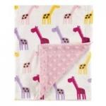"Hudson Baby 30"" x 40"" Unisex Baby Plush Mink Blanket (Pink Giraffe)"
