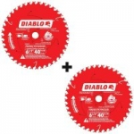 "2-Pack Diablo 40-Tooth 6-1/2"" Finish Saw Blades"