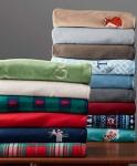 "Lands' End Plush Fleece Throw Blanket (50""W x 70""L, Various)"