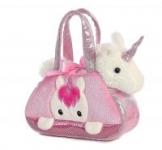 Aurora Fancy Pals Pet Carrier Purse w/ Peek-A-Boo Removable Plush Animal