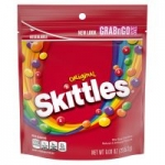 9-Ounce Skittles Original Fruity Candy Grab n Go Size Bag