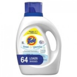 100oz. Tide HE Laundry Detergent Liquid (Free and Gentle)