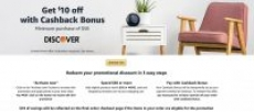 YMVV Discover Credit Card – Spend $50 or more Get $10 off
