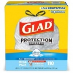 110-Count 13-Gallon Glad OdorShield Tall Trash Bags (Febreze Fresh)