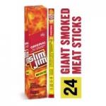 24-Pack 0.97oz Slim Jim Giant Smoked Meat Stick (Original)