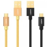 2-Pack Aukey 3.3 ft. Micro USB Nylon Braided Cables