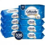 8-Pack 42-Ct Cottonelle FreshCare Flushable Wipes (Alcohol Free)