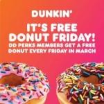 Dunkin Perks Members: Purchase Any Beverage via DD Card Get Bonus Donut