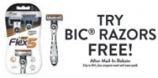Any Bic Razors Disposable Products (Soleil Flex or Comfort 3 Hybrid)